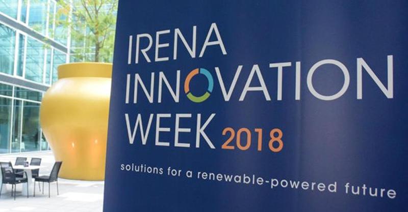 Cartel de la IRENA Innovation Week.