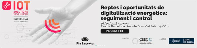 Anuncio de la jornada sobre digitalización de la energía organizada por CEEC en Fira de Barcelona.