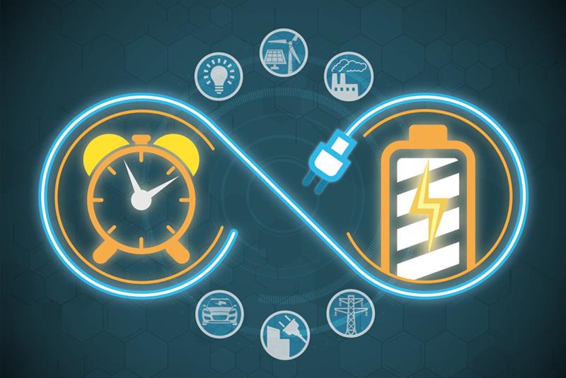 Infografía sobre almacenamiento eléctrico.