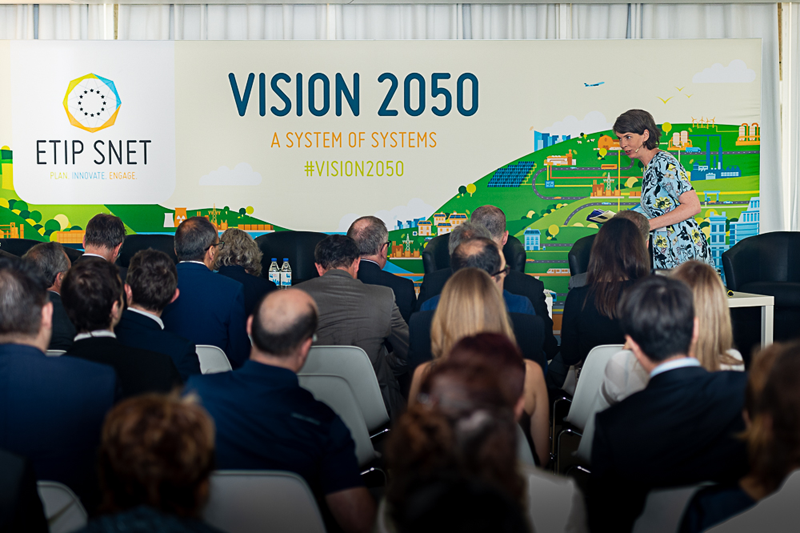 Acto de presentación de ETIP SNET Vision 2050 en Bruselas.