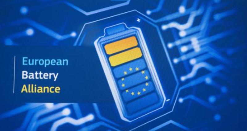 Cartel de la Alianza Europea de la Batería.