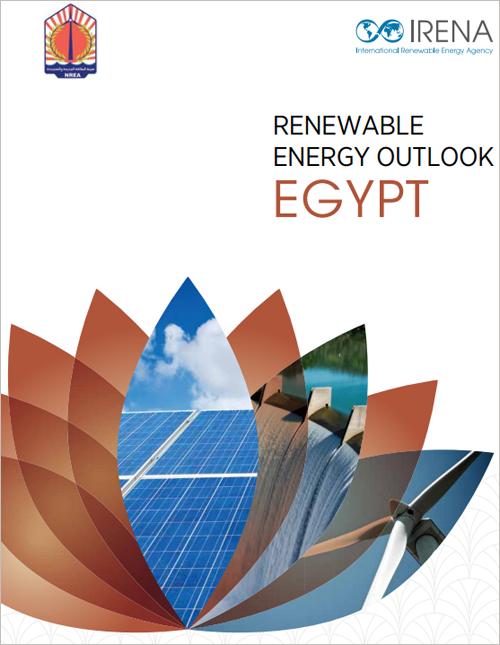 Portada del informe de Irena sobre energía renovable en Egipto.