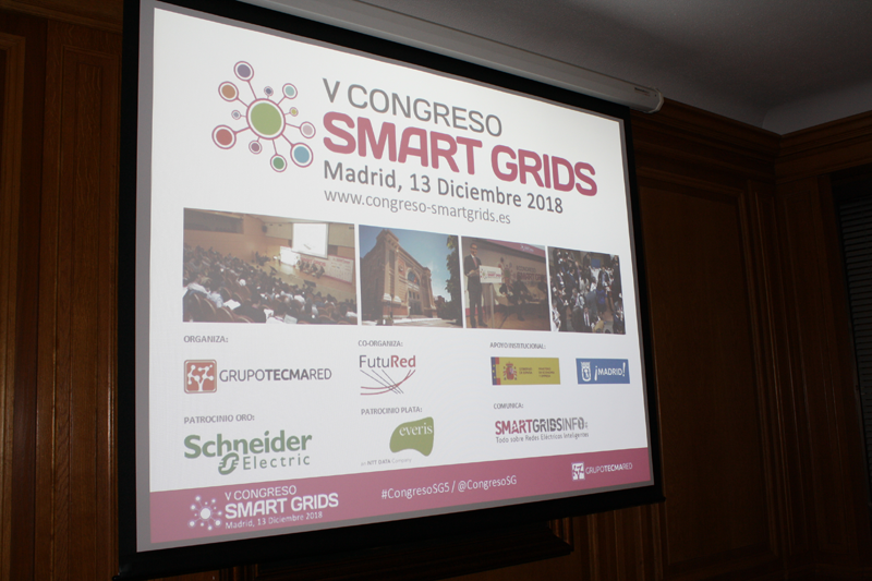 Cartel del V Congreso Smart Grids.