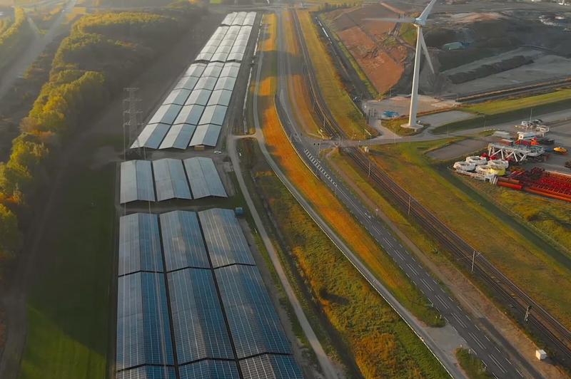 Megaplanta fotovoltaica Scaldia en Países Bajos.