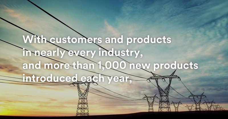Tendido eléctrico. Fotograma del vídeo de 3M para anunciar su compromiso de sostenibilidad.