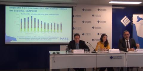 AEE presenta el Estudio Macroeconómico del Impacto del Sector Eólico en España