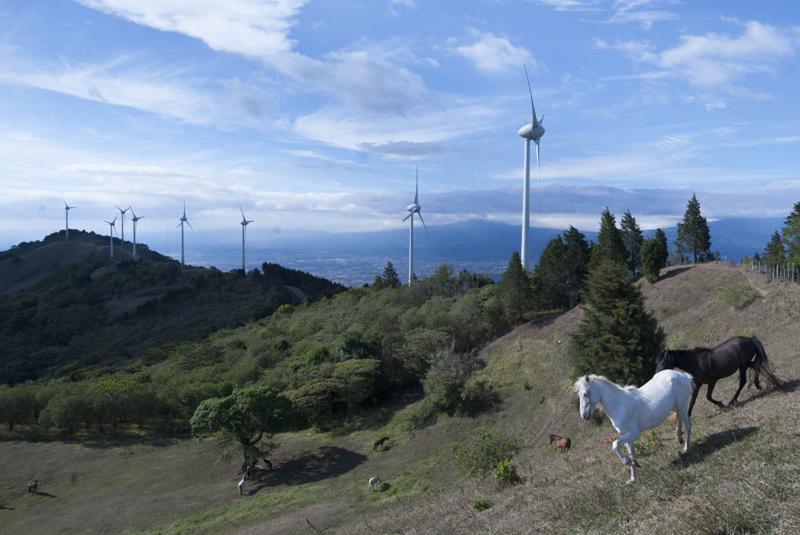 Planta eólica Valle Central de CNFL, en San José (Costa Rica).