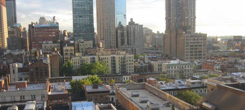 Nueva York, edificios. azoteas