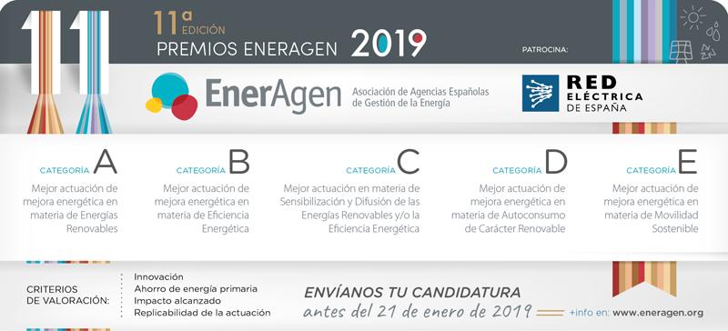 Anuncio de la convocatoria de los Premios EnerAgen 2019.