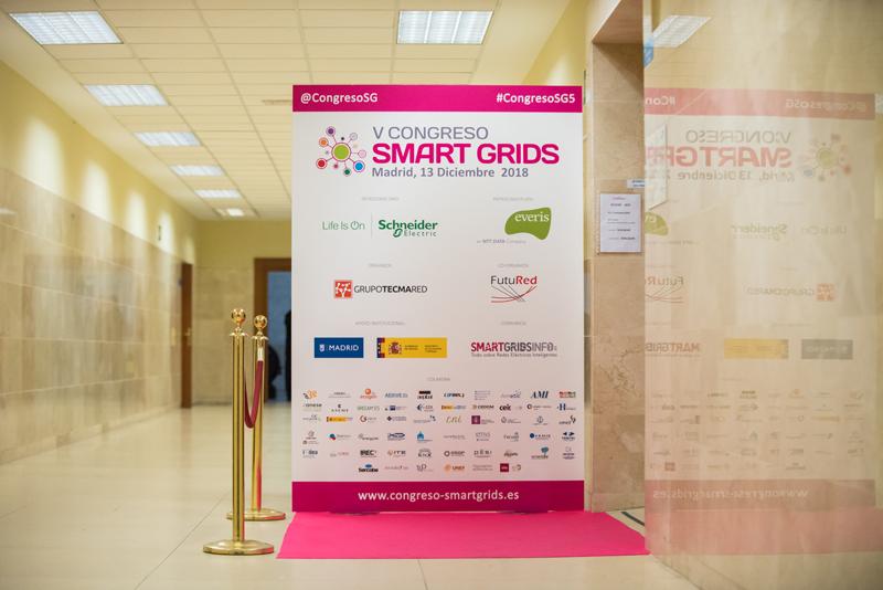 Cartel del V Congreso Smart Grids.