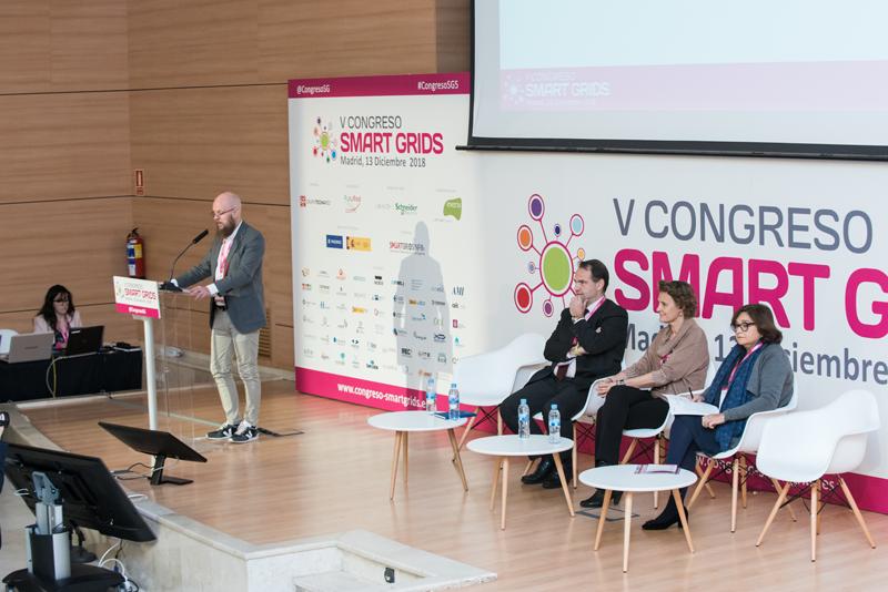 Stefan Junestrand en la inauguración del V Congreso Smart Grids.