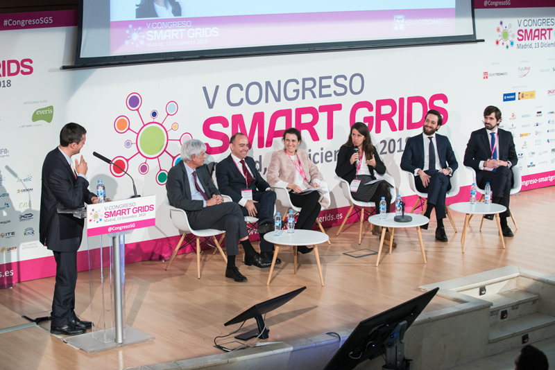 Alicia Carrasco en la 1 Mesa Redonda V Congreso Smart Grids.