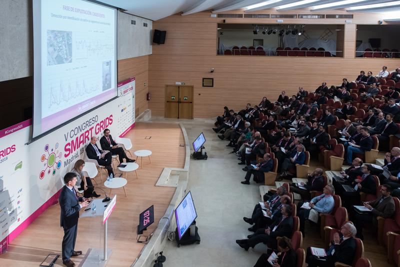Javier Rodríguez, de Landys+Gyr EMEA, durante el V Congreso Smarts Grids..
