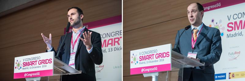 Miguel Pardo y Carlos Madina en el V Congreso Smart Grids.