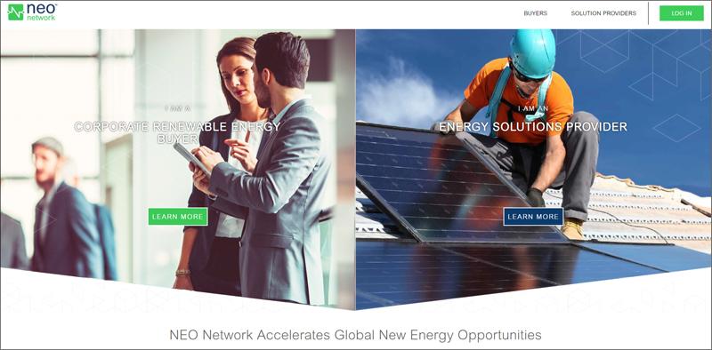 Pantallazo de la web de Red NEO de Schneider Electric.