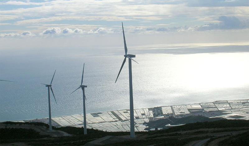 Aerogeneradores. Energías Renovables. Andalucía.