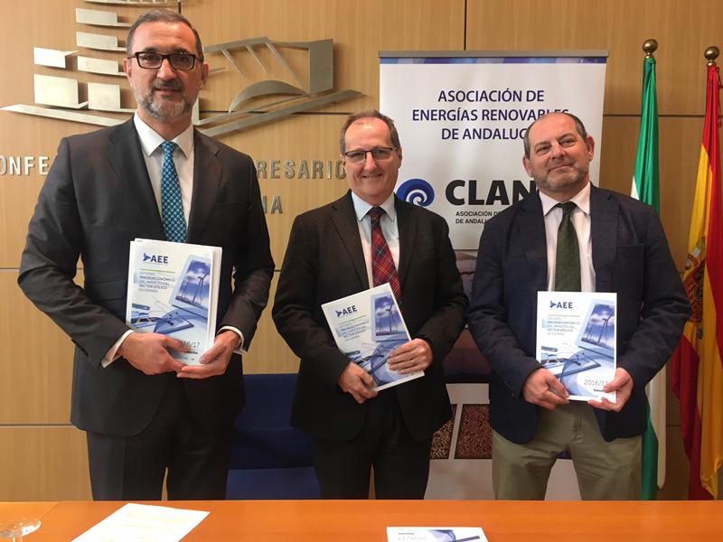 Presentación en Andalucía del Estudio nmacroeconómico del impacto del sector eólico nen España.