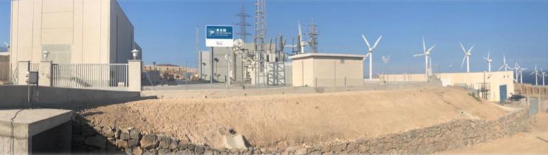 Subestación eléctrica de REE en Canarias.