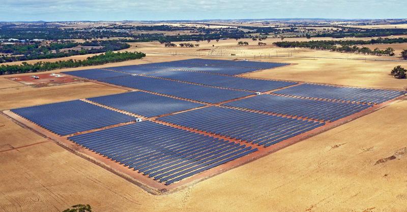 Planta fotovoltaica.