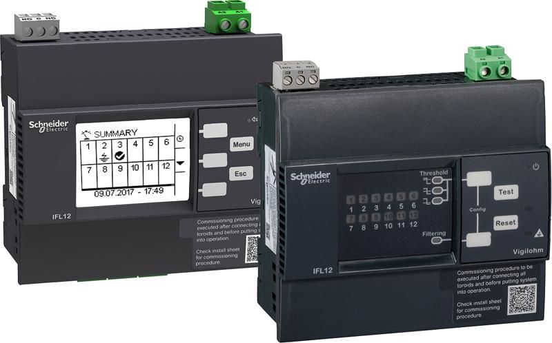 Dispositivos conectados Vigilohm IFL de Schneider Electric..