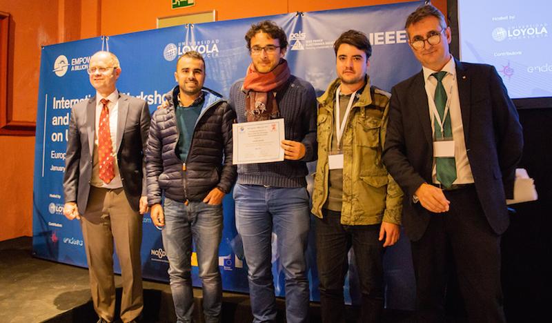 Integrantes del equipo español Solaris Offgrid, que ha obtenido uno de los premios por su proyecto Solar Home System (SHS) Smart Battery Pack