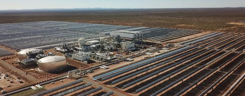 Planta termosolar de Kathu en Sudáfrica, construida por la UTE Acciona Industrial y Sener.