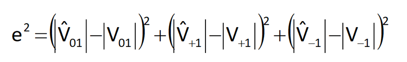 Cálculo del error cuadrático medio y clasificación del evento