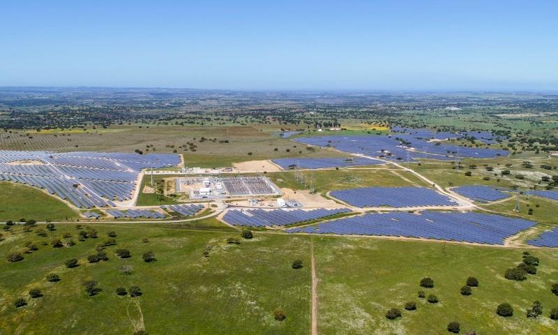 Parque fotovoltaico en Portugal.