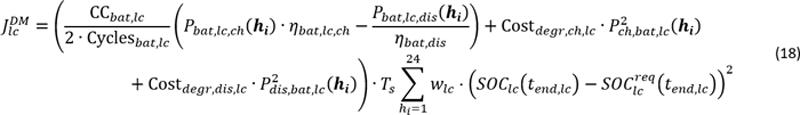 """Fórmulas de la comunicación titulada """"Gestión avanzada de microrredes como mecanismo de flexibilidad."""