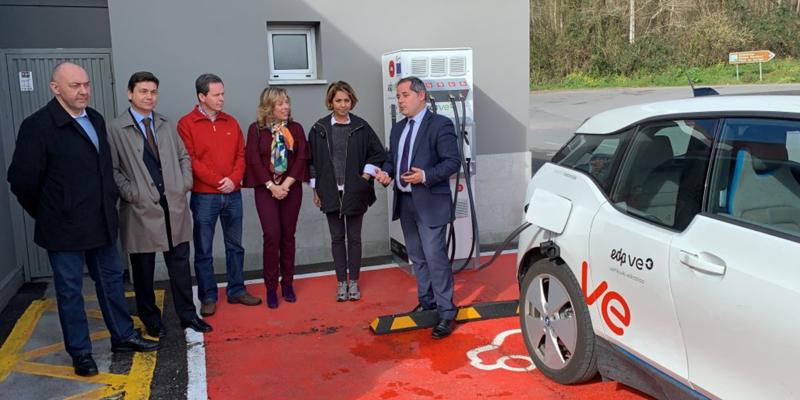 Inauguración de nuevos puntos de recarga de EDP en Asturias