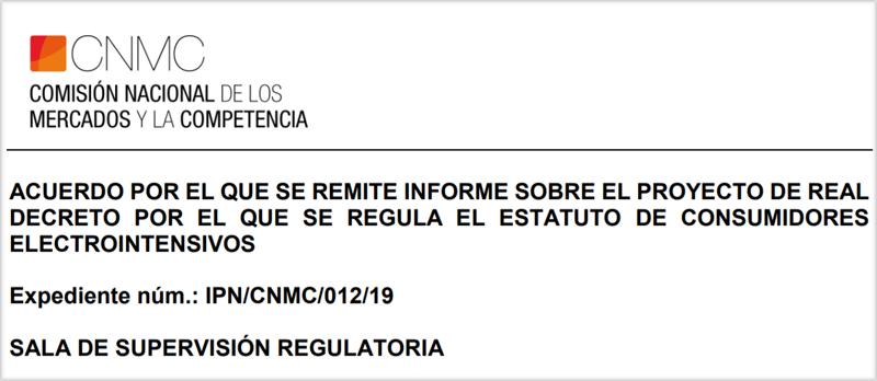 Portada del informe de la CNMC