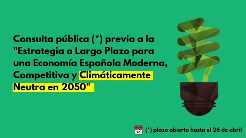 Consulta pública previa del Ministerio para la Transición Ecológica