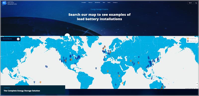 Mapa dgital del Consorcio para la Innovación de la Batería (CBI).