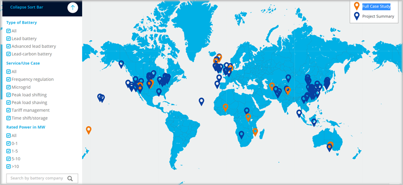 Herramienta del mapa digital del Consorcio para la Innovación de la Batería (CBI)