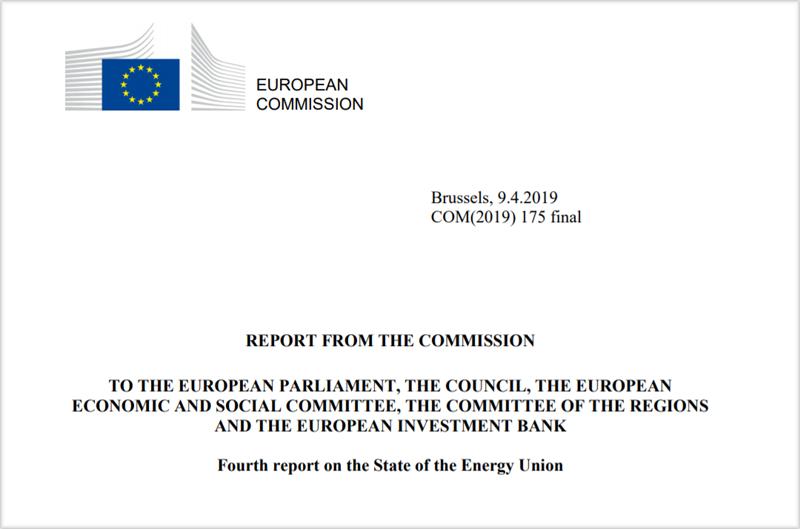 Cuatro informe sobre el Estado de la Unión de la Energía