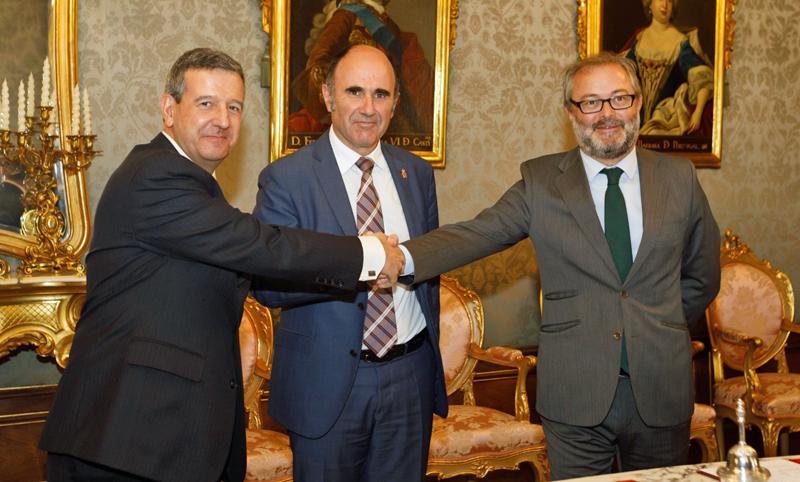 Firma del acuerdo entre el Gobierno de Navarra, Iberdrola y Siemens Gamesa,