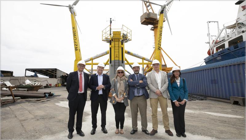Visita a la primera plataforma flotante eólica de España en Canarias