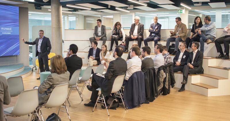 """La sede de Minsait acogió el encuentro titulado """"El futuro de las tecnologías cognitivas para el sector energético""""."""