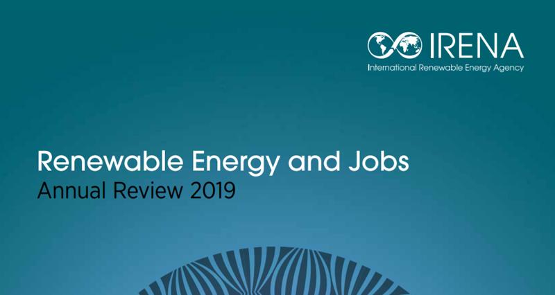 Portada del informe 'Energías Renovables y Empleo – Balance Anual'