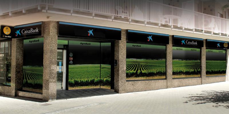 Oficinia de AgroBank, linea de negocio de CaixaBank para el sector agrario.