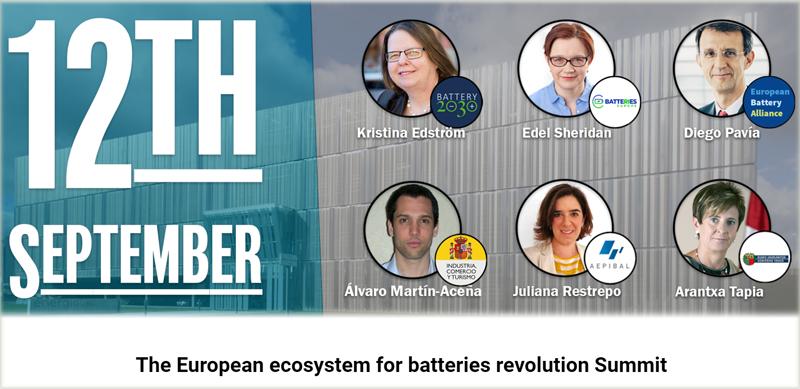 Cartel de la jornada 'El ecosistema europeo para la revolución de las baterías'