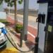 La electrolinera recién inaugurada en la ciudad valenciana de Riba-roja de Túria ofrece recarga rápida gratuita