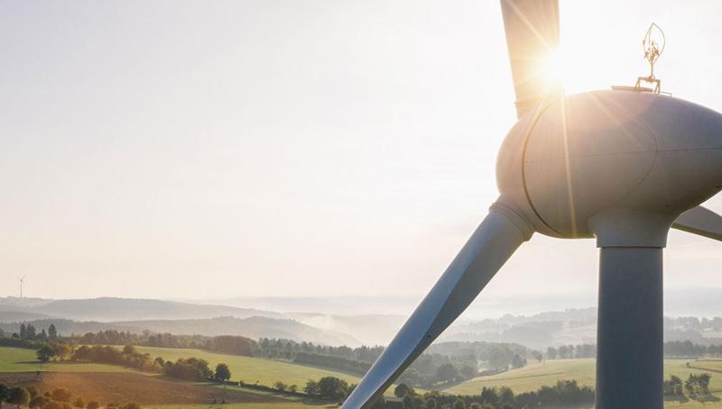 Una turbina eólica.