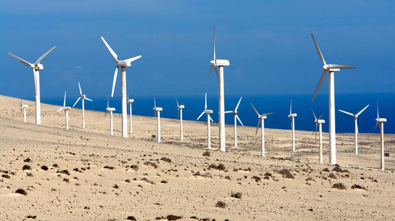 Parque eólico en Canarias