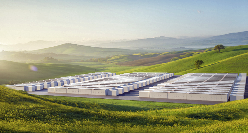 Conjunto de baterías Megapack de Tesla