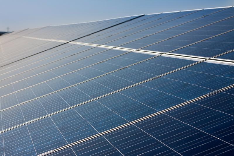 Paneles fotovoltaicos. Pamplona.