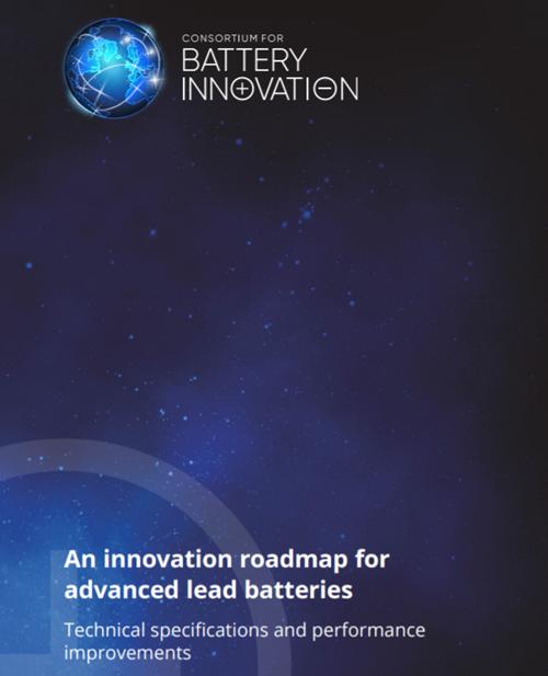 Portada de la nueva hoja de ruta del Consorcio para la Innovación de la Batería