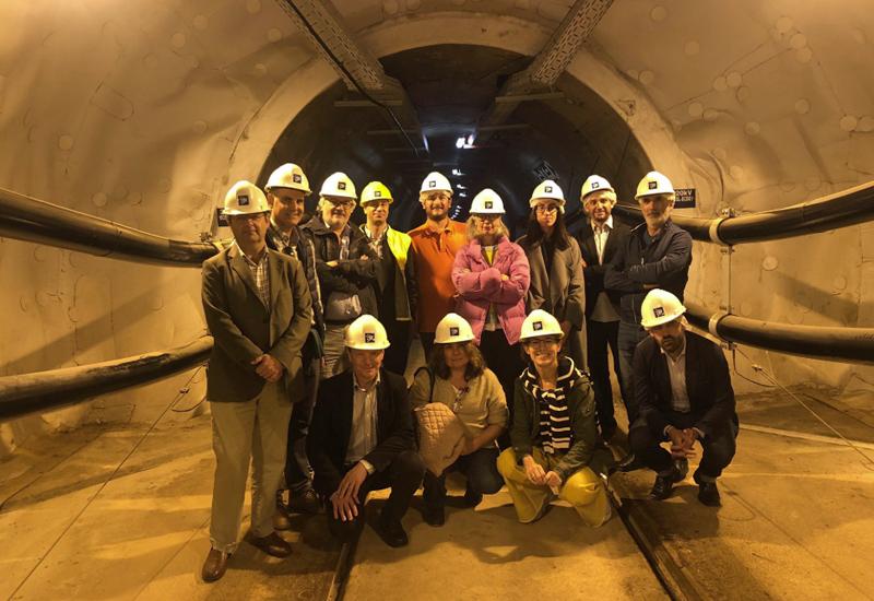 Visita de REE al túnel de interconexión