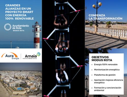 El Ayuntamiento de Rota ha firmado un contrato de suministro eléctrico con la empresa Aura Energía