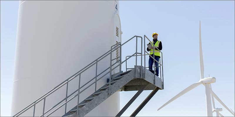 mantenimiento en un aerogenerador